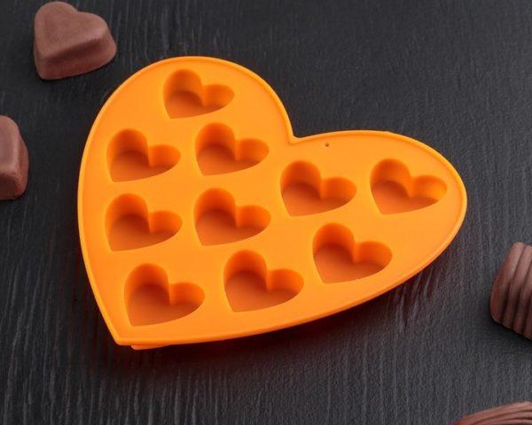 Формочка для конфет «Сердечки» 17