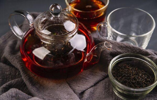 Черный чай Папайя в шелковых мешочках
